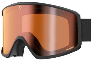 Matte Black (Lens: Double Full Orange Mirror)-swatch